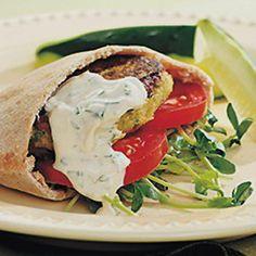 Chickpea Burgers with Tahini Sauce
