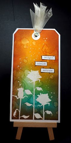 Eileen's Crafty Zone: Lavinia Stamps and Distress Inks Tag.