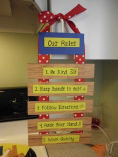 "Classroom Organization:  Rules with ""farm"" theme look."