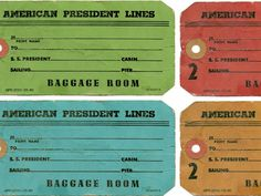 Etiqueta Vintage maletas