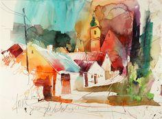 geras, watercolour, voka artwork