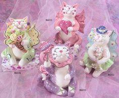 whimsiclay fairy cats