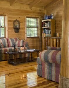 Pictures Of Rustic Columns & Poles Inside Log Homes …Some Are Real Trees! #logcabin