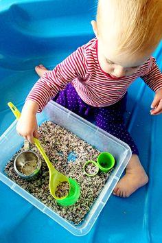 Sensory Play with Rosemary Rice