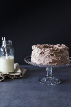 chocolate angel food cake with cocoa whipped cream