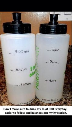 Good idea to make it easier to keep track of how much water you need to be drinking
