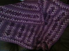 Crochet~A Special Mile-a-Minute Granny afghan would be pretty in bright colors.
