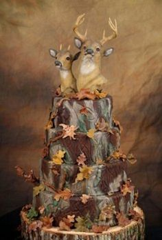 wedding cake deer camo