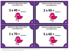 task cards, pieces multiplication games, educ idea, numbers, multiplication facts