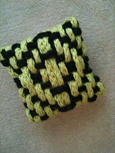 Finger Knit Pillow #2