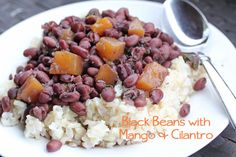 Week of 2/12 ~ Black Beans with Mango & Cilantro | 5DollarDinners.com