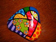 groovi heart, flower heart, craft, pebbles and art, heart rocks, painted rocks, paint stone, paint rock, art paintrock