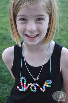 Melted Perler Bead Necklace - Fun!
