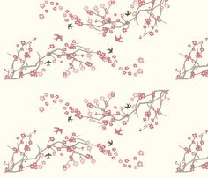 Cherry Blossom fabric by thehandmadehome on Spoonflower - custom fabric