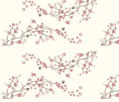 Cherry Blossom fabric by thehandmadehome on Spoonflower - custom fabric