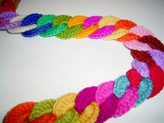 crochet connecting loops ....Photo only