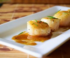 Scallops with Meyer Lemon Pan Sauce. So simple and easy, but impressive enough for company! http://stalkerville.net/