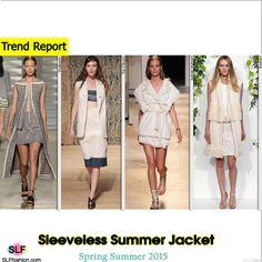 Sleeveless Summer Jacket Trend for Spring Summer 2015.Thakoon, Tia Cibani, Isabel Marant, and Kaelen #Spring2015 #SS15 #Jacket
