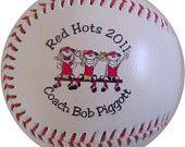 personalized baseball....coach's gift idea?
