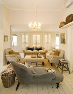 chair, living rooms, chaise lounges, color, sitting rooms, hous, small spaces, live room, painted floors