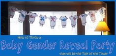 baby gender reveal party!
