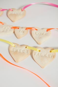 An easy, last-minute Valentine's Day treat...Pie Crust Conversation Hearts!