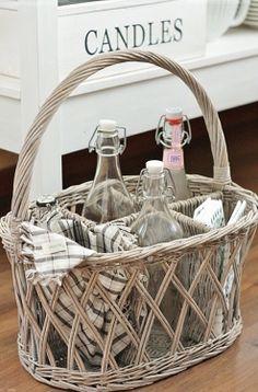 Basket serving piece