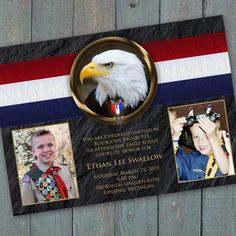 Eagle Scout Court of Honor invitation, Boy Scouts of America invitation, BSA invitation