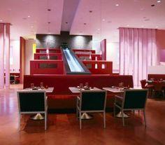 las vegas, waterfalls, inspiration, restaurant interiors, design inspir