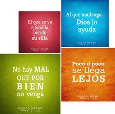 Spanish sayings, dichos