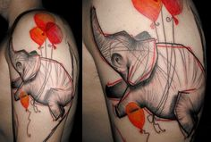 By Fabien Batista, Belly Button Tattoo, France.