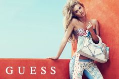 guess spring accessories 2014 pulmanns1 800x533 Megan Williams + Heather Depries Model for Guess Accessories Spring 14 Ads by Pulmanns