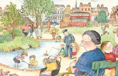Illustration (c) Janet Ahlberg. Taken from Peepo! by Janet and Allan Ahlberg, published by Puffin Books.