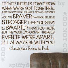 Winnie The Pooh Stronger Braver Smarter