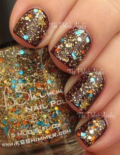 KBShimmer Sand In My Stocking Swatches - The PolishAholic #autumn #nails