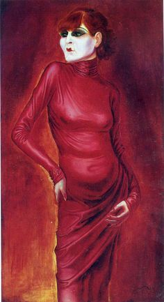 "Otto Dix, Gera, Germany (1891-1969). German painter and printmaker. New Objectivity (Neue Sachlichkeit). ""The Dancer Anita Berber"""