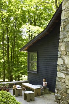 architect, garden stools, log cabins, outdoor benches, hous, remodel cabin