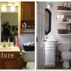 320 Sycamore bathroom shelves