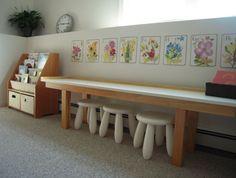 Long desk.