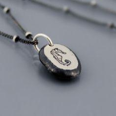 Silver Seahorse Nugget Necklace by Lisa Hopkins Design
