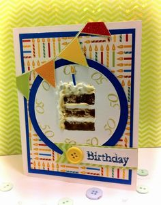 The Damsel of Distressed Cards: Happy Birthday Mom! Hand stamped birthday card.