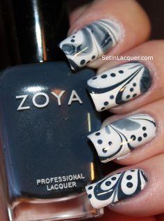 Water marble using Zoya nail polishes