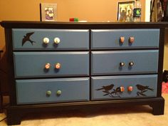 Free dresser than I repainted myself. Definitely proud right now.