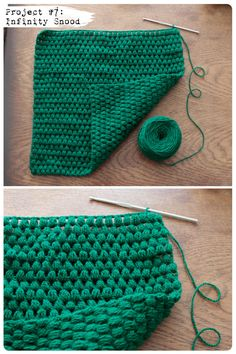 Project a Day: #7 Crochet bobble snood