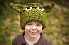 Yoda Crocheted Hat