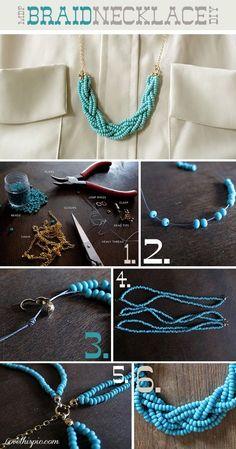 DIY Braid necklace