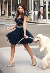 Camille La Vie dress modeled by Janel Parrish