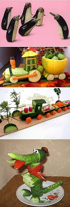 Инструкция поделок из овощей