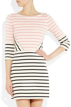 Markus Lupfer  Charlotte striped cotton dress
