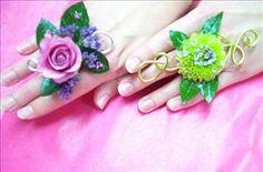 Prom flower rings